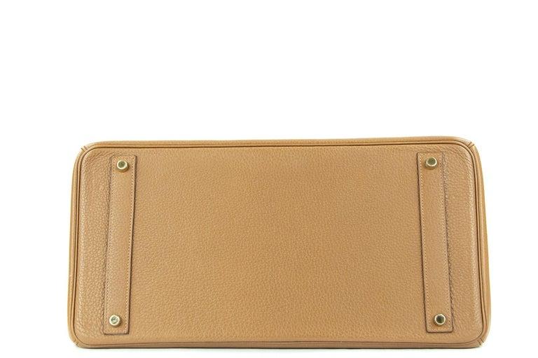 Hermes Birkin Bag 40cm Alezan GHW In New Condition For Sale In Newport, RI