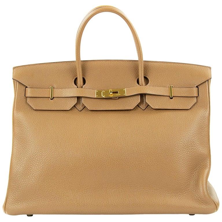 Hermes Birkin Bag 40cm Alezan GHW For Sale