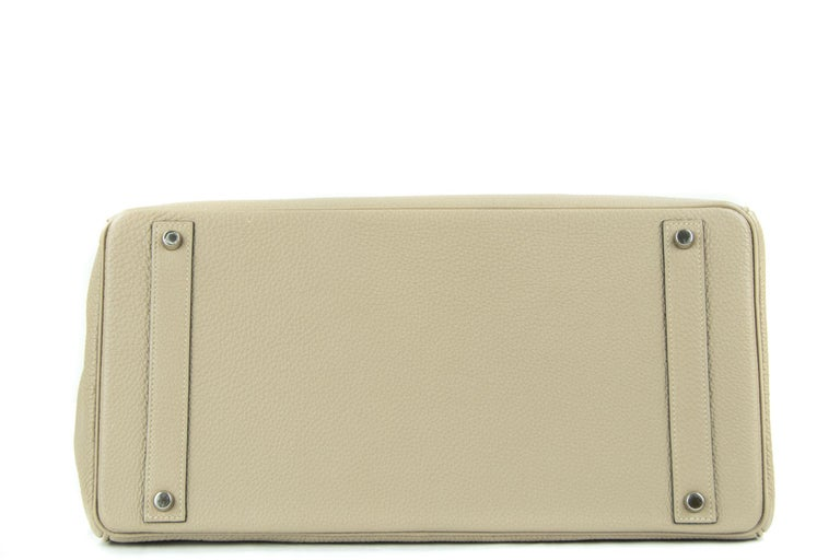 Hermes Birkin Bag 40cm Gris Tourterelle Togo PHW In Excellent Condition For Sale In Newport, RI