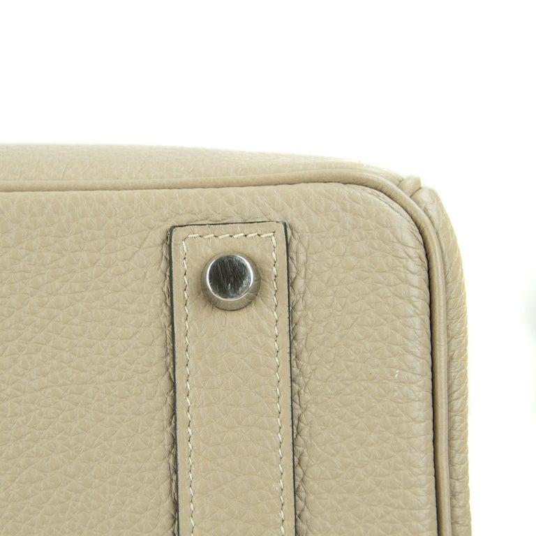 Hermes Birkin Bag 40cm Gris Tourterelle Togo PHW For Sale 1