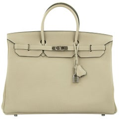 Hermes Birkin Bag 40cm Gris Tourterelle Togo PHW