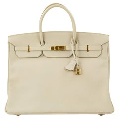 Beige Top Handle Bags