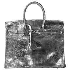 Hermes Birkin Bag Cast Aluminum Sculpture