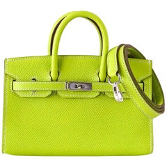 Hermes Birkin Bag Tiny Miniature Micro Kiwi Epsom Limited Edition