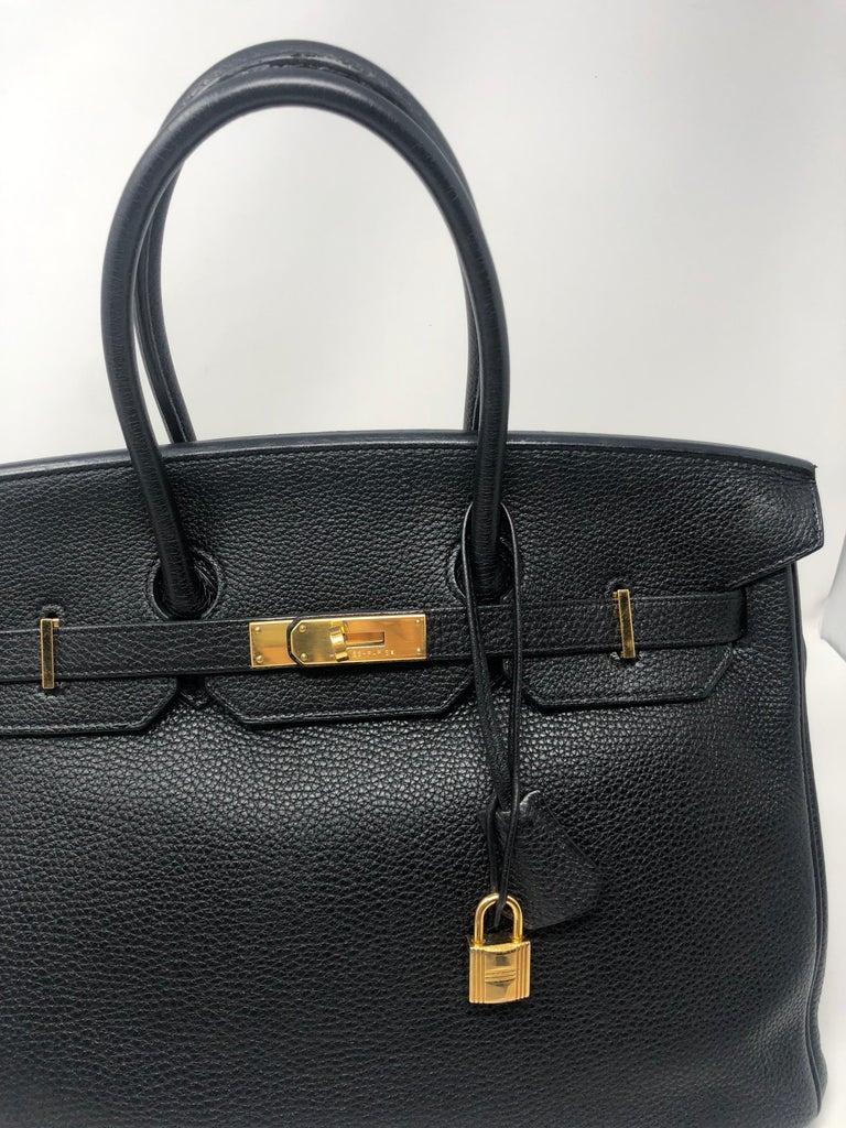 Hermès Birkin Black 35 GHW  For Sale 7