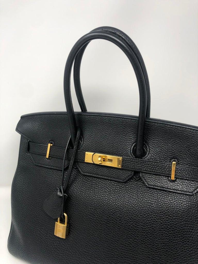 Hermès Birkin Black 35 GHW  In Good Condition For Sale In Athens, GA