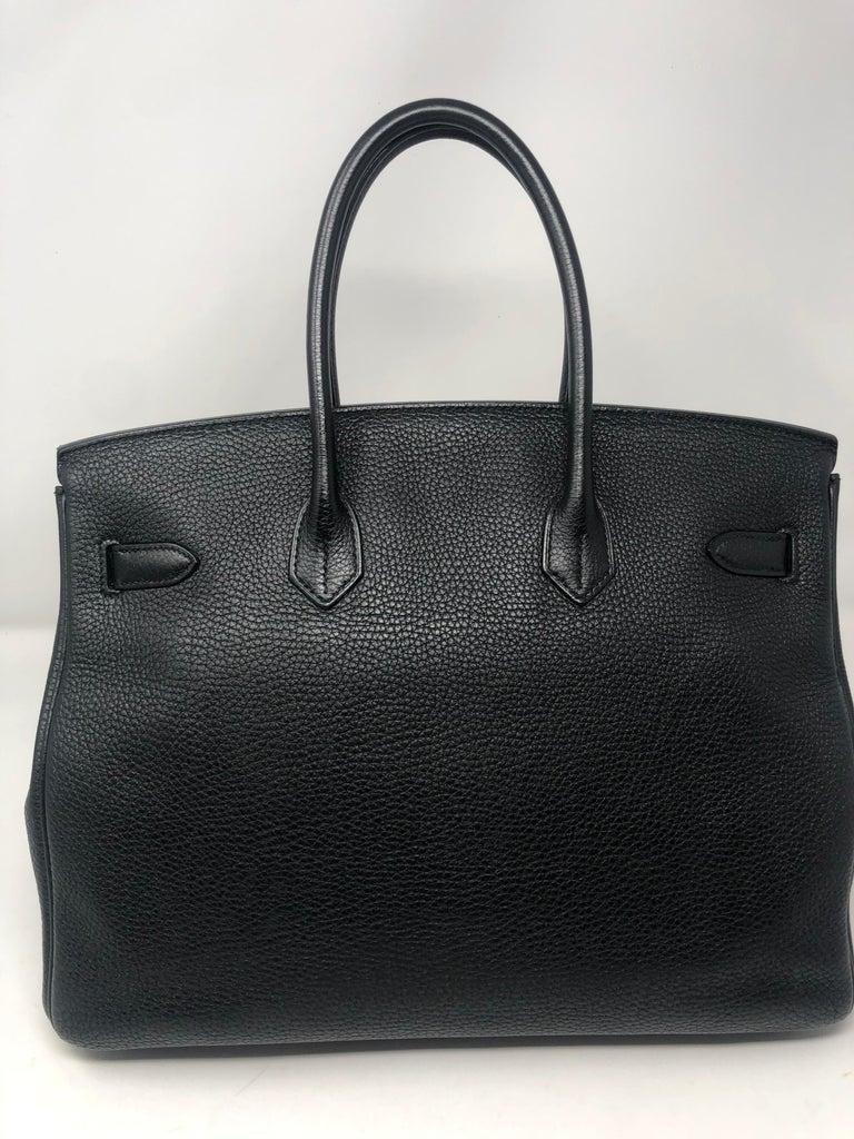 Women's or Men's Hermès Birkin Black 35 GHW  For Sale