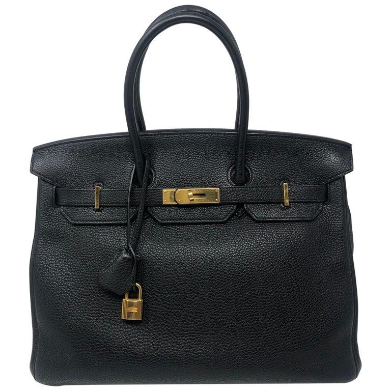 Hermès Birkin Black 35 GHW  For Sale