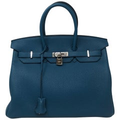 Hermes Birkin Bleu Cobalt 35 Bag