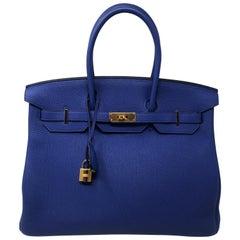 Hermes Birkin Bleu Electrique 35 Bag
