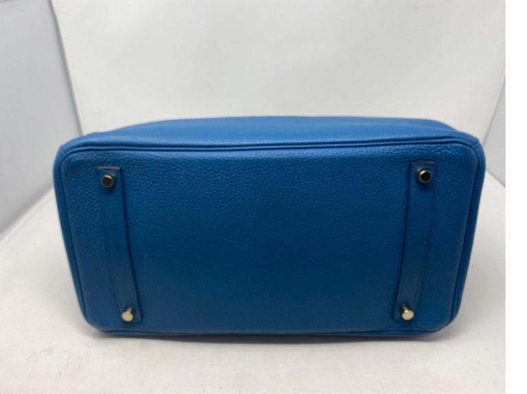 Women's or Men's Hermes Birkin Blue Colvert 35 Bag  For Sale
