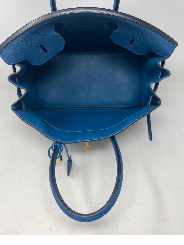 Hermes Birkin Blue Colvert 35 Bag  For Sale 3