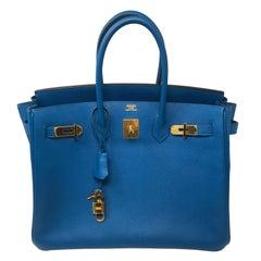 Hermes Birkin Blue Izmir 35 Bag