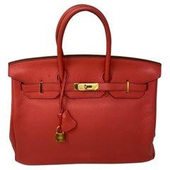 Hermes Birkin Bouganvillea 35 Bag