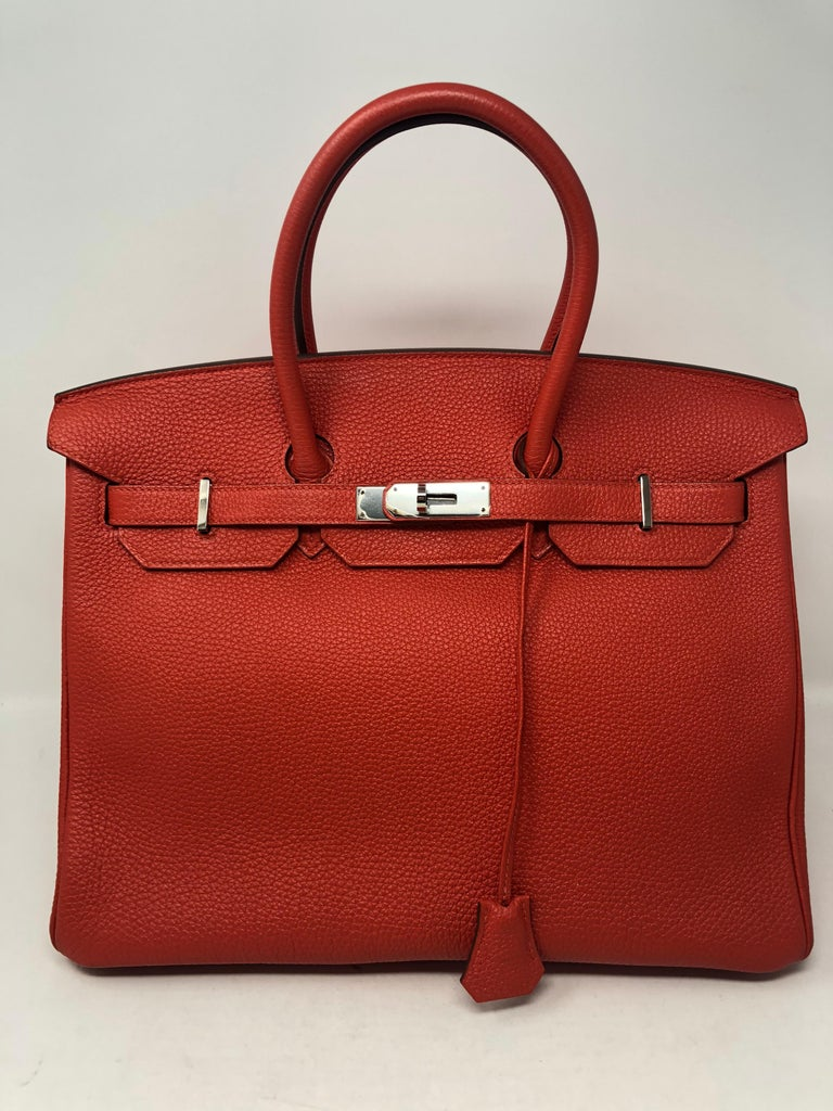 21dbe4d3986 Hermes Birkin 35 in Cappucine Red color. Looks brand new condition.  Beautiful color and