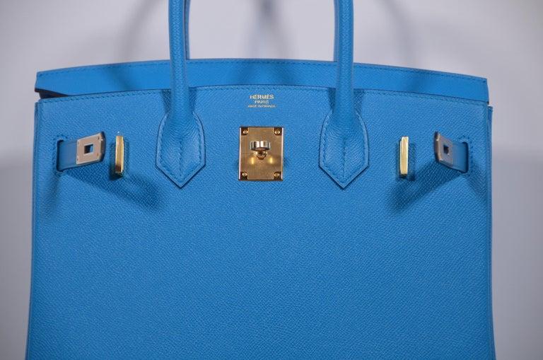 HERMES Birkin Epsom Calfskin Bleu Frida 30 CM    NEW Store Fresh For Sale 5