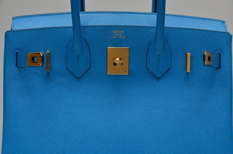 HERMES Birkin Epsom Calfskin Bleu Frida 30 CM    NEW Store Fresh For Sale 1