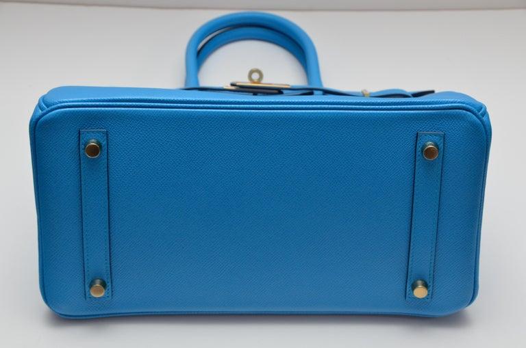 HERMES Birkin Epsom Calfskin Bleu Frida 30 CM    NEW Store Fresh For Sale 3