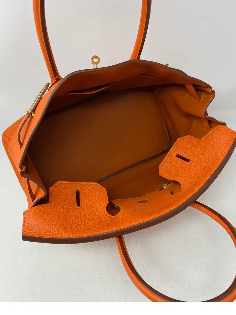Hermes Birkin Feu Orange 35 Bag For Sale 5