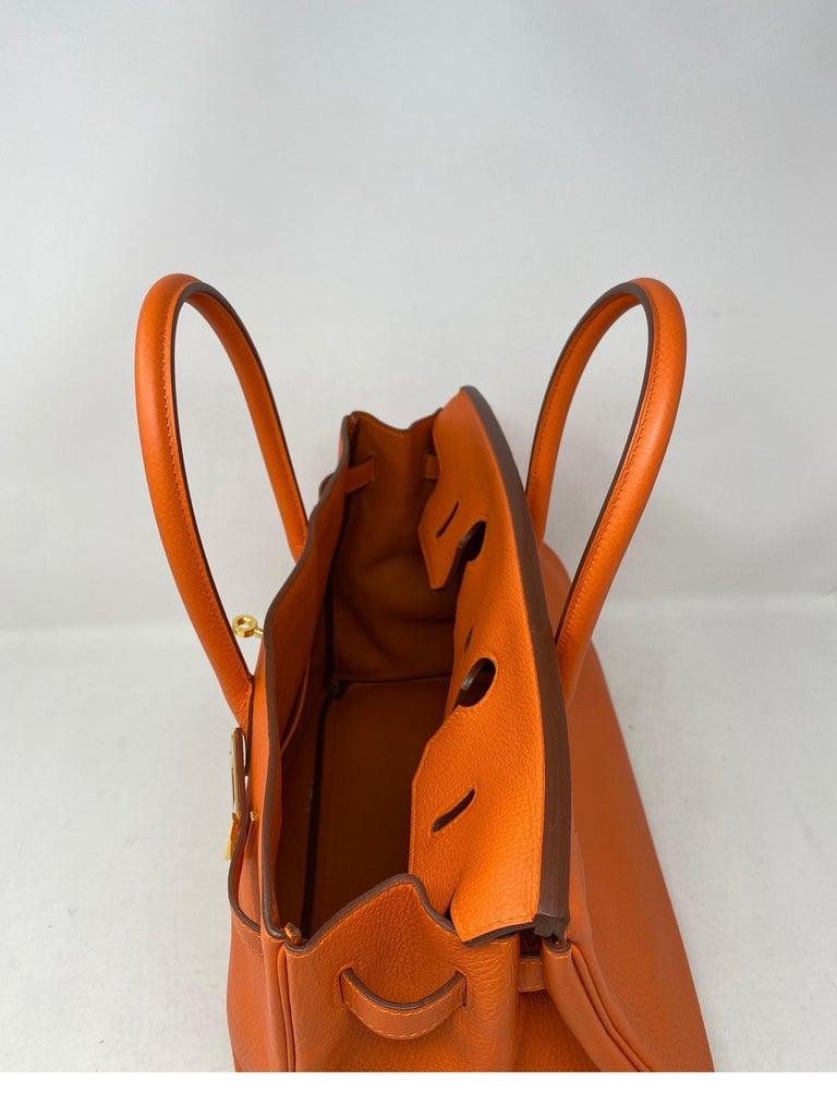 Hermes Birkin Feu Orange 35 Bag For Sale 6