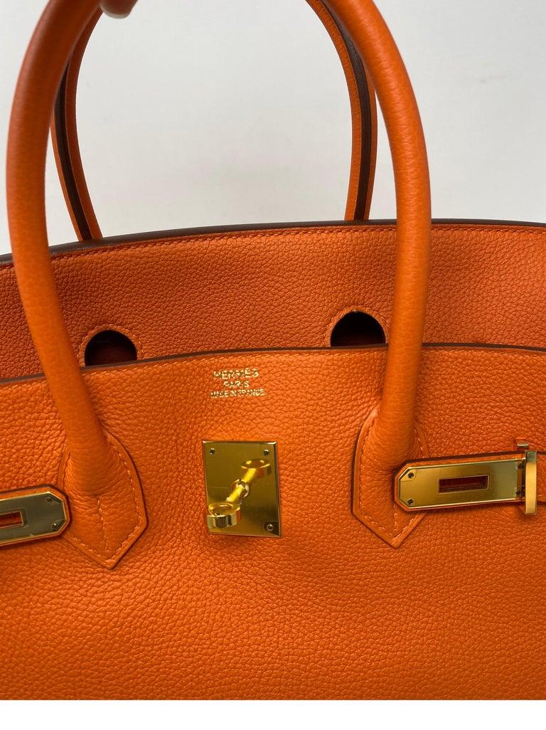Hermes Birkin Feu Orange 35 Bag For Sale 7