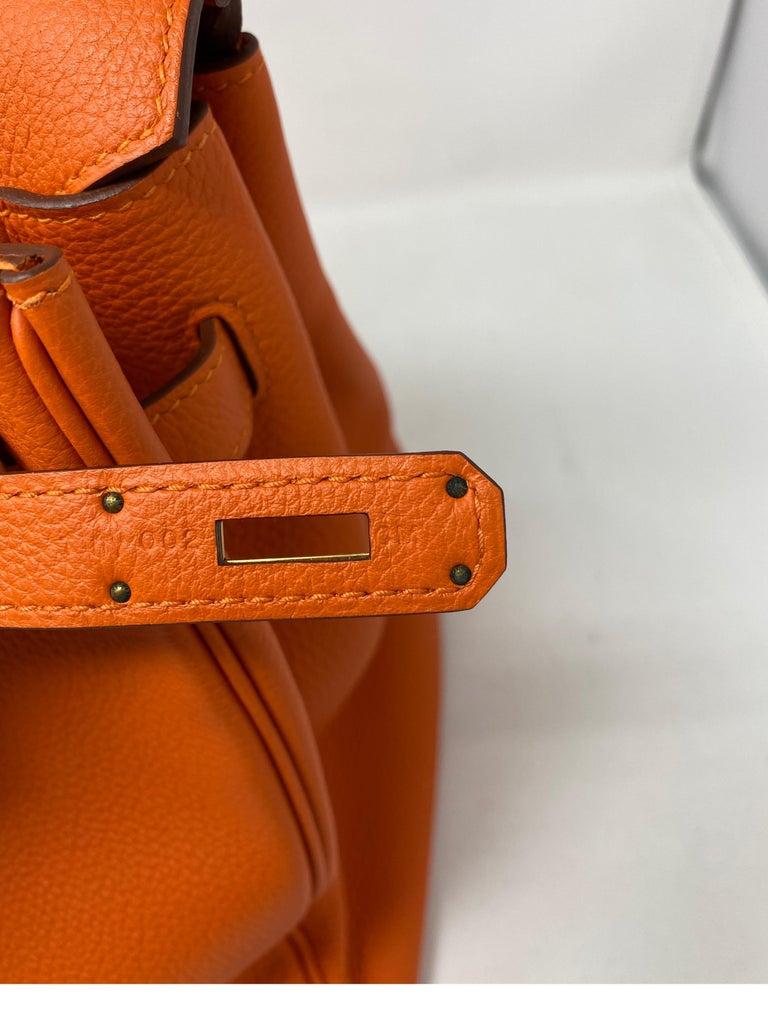 Hermes Birkin Feu Orange 35 Bag For Sale 8