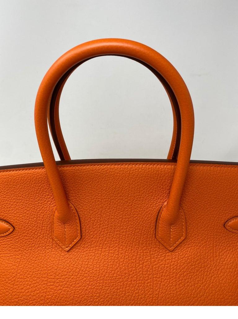 Hermes Birkin Feu Orange 35 Bag In Excellent Condition For Sale In Athens, GA