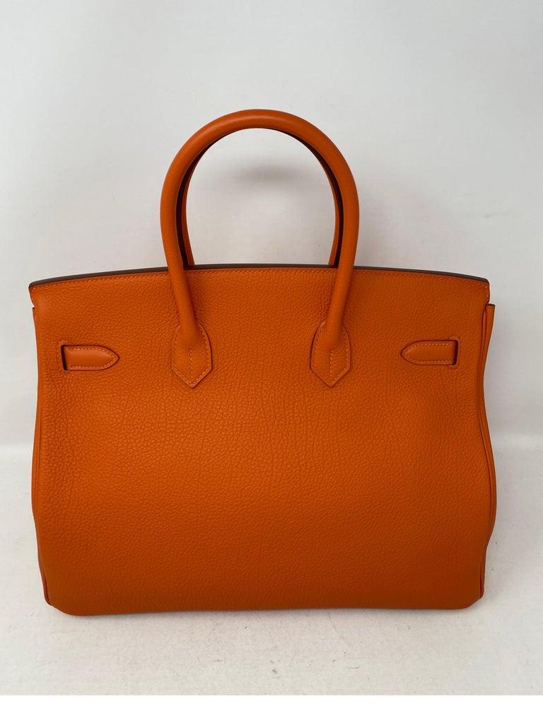 Women's or Men's Hermes Birkin Feu Orange 35 Bag For Sale