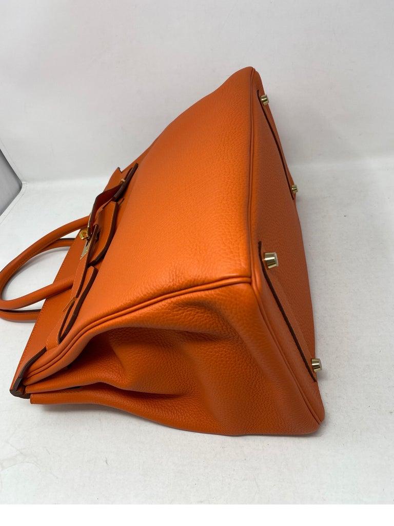 Hermes Birkin Feu Orange 35 Bag For Sale 1