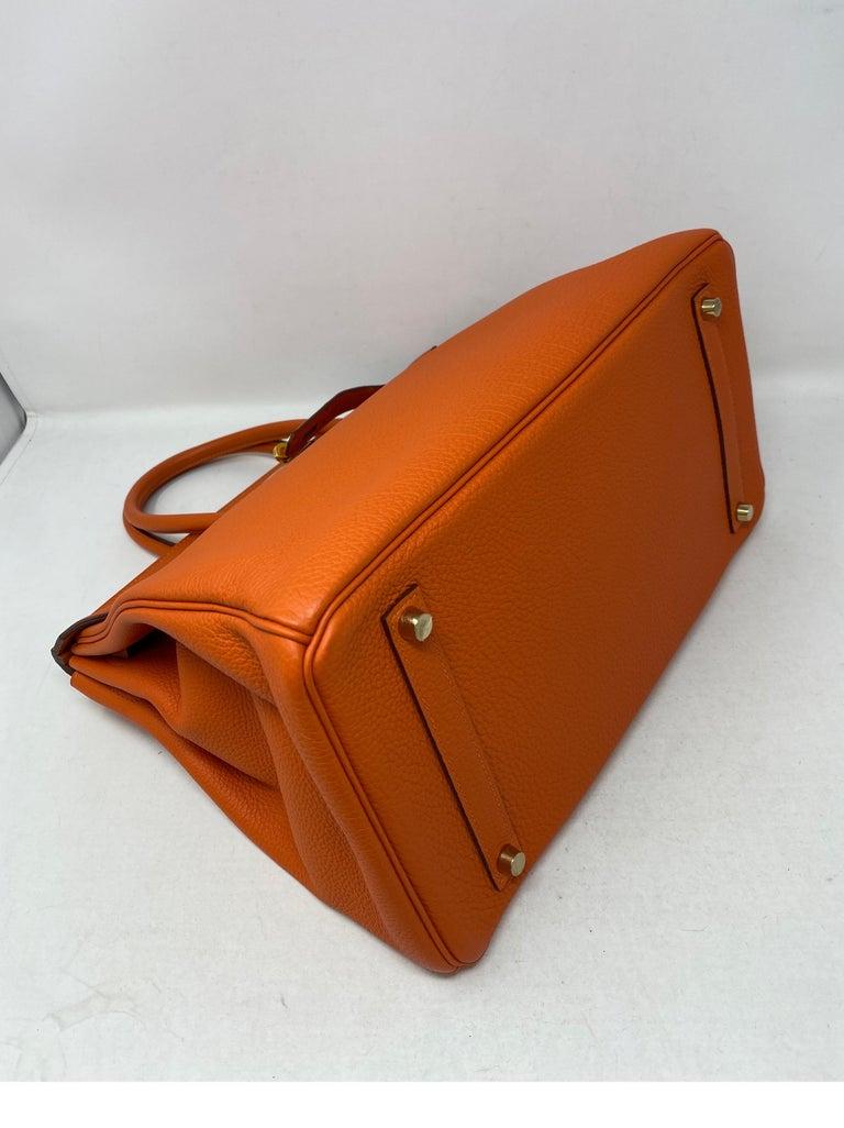 Hermes Birkin Feu Orange 35 Bag For Sale 2