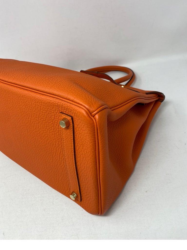 Hermes Birkin Feu Orange 35 Bag For Sale 3