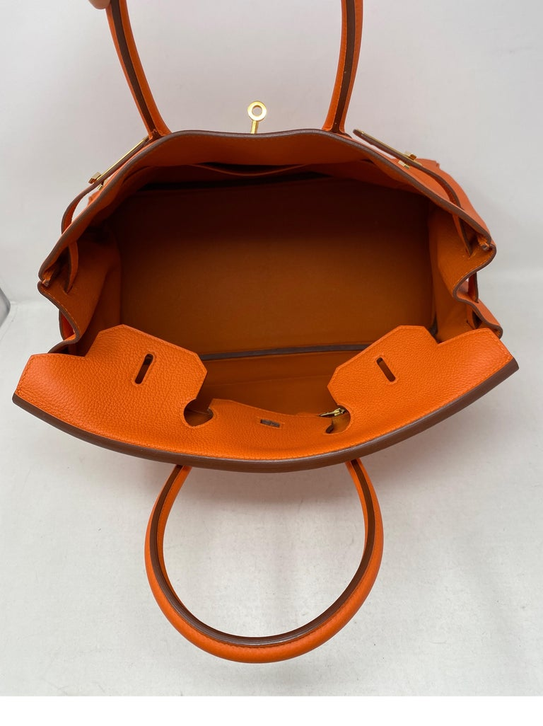 Hermes Birkin Feu Orange 35 Bag For Sale 4
