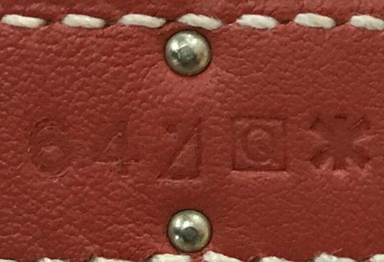 Hermes Birkin Ghillies Handbag Toile and Sanguine Swift with Palladium Hardware  For Sale 3