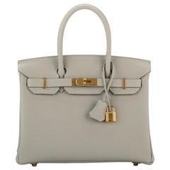 Hermes Birkin Gris Perle Gold Togo Bag