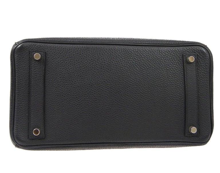 Hermes Birkin HAC 32 Black Leather Carryall Men's Travel Top Handle Tote Bag For Sale 1
