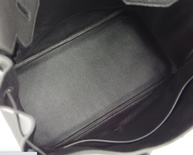 Hermes Birkin HAC 32 Black Leather Carryall Men's Travel Top Handle Tote Bag For Sale 3