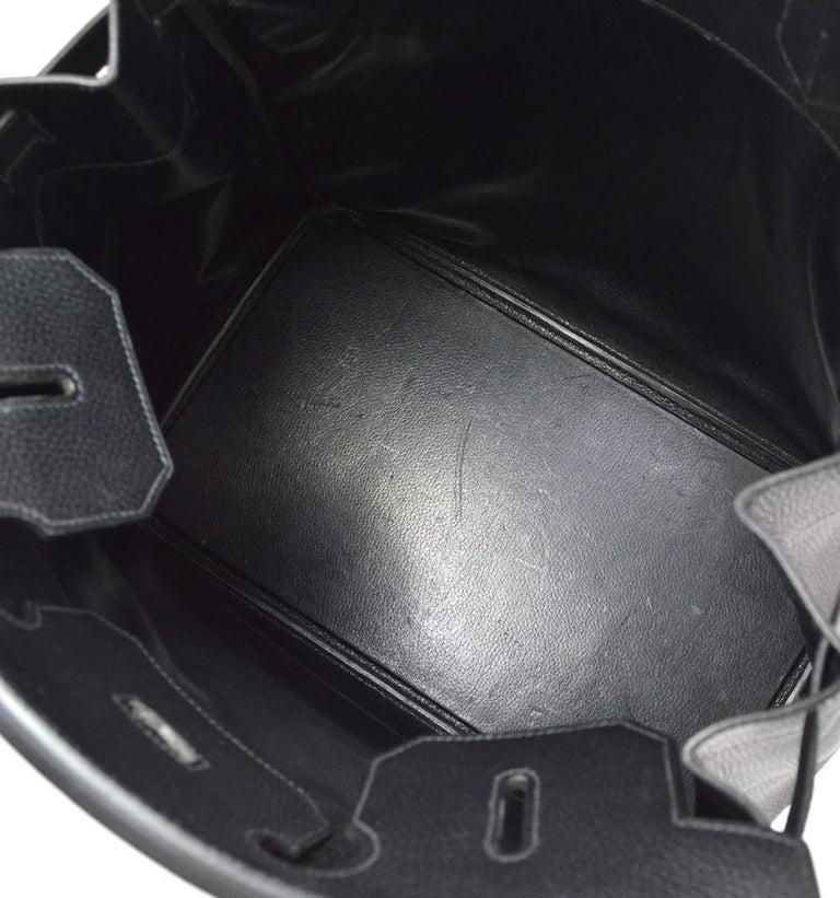 Hermes Birkin HAC 40 Black Leather Gold Women's Men's Travel Top Handle Tote Bag For Sale 3