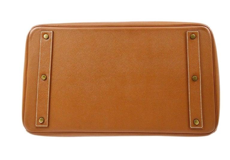 Hermes Birkin HAC 45 Cognac Leather Gold Large Men's Travel Top Handle Tote Bag For Sale 1