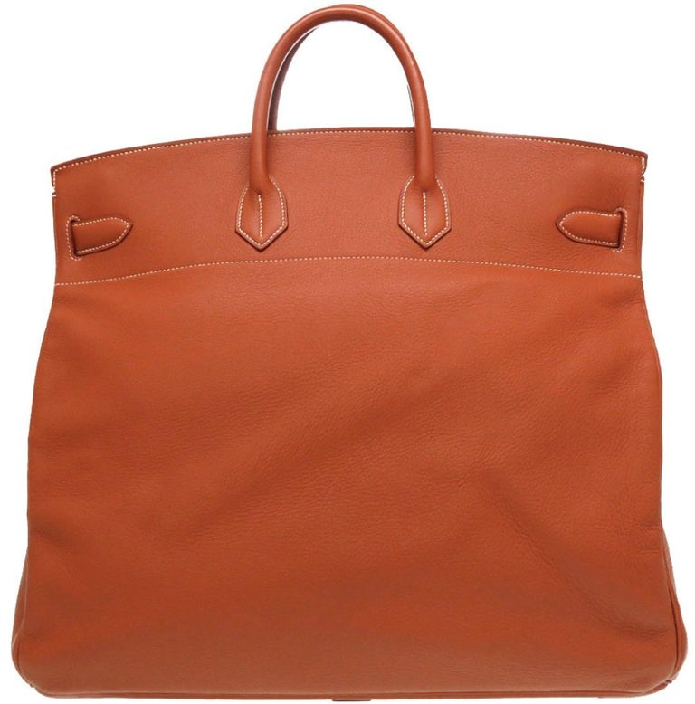 Women's Hermes Birkin HAC 50 Leather Gold Large Men's Travel Top Handle Tote Bag For Sale