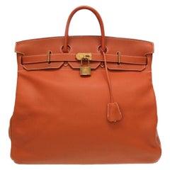 Hermes Birkin HAC 50 Leather Gold Large Men's Travel Top Handle Tote Bag