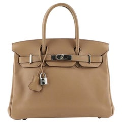 Hermes Birkin Handbag Biscuit Swift with Palladium Hardware 30