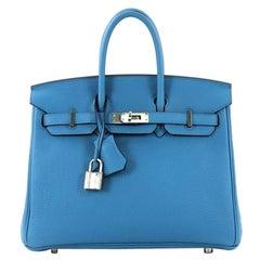 ca14e7719b4a Hermes Birkin Handbag Bleu Zanzibar Togo with Palladium Hardware 25
