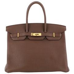 Hermes Birkin Handbag Brulee Togo with Gold Hardware 35