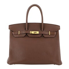 Hermes Birkin Handbag Brulee Togo with Gold Hardware 35