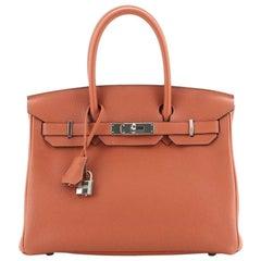 Hermes Birkin Handbag Cuivre Togo with Palladium Hardware 30