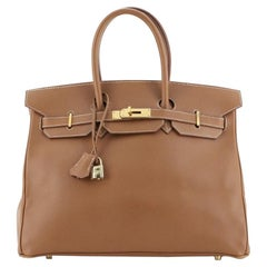 Hermes Birkin Handbag Gold Courchevel with Gold Hardware 35