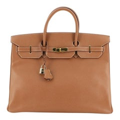 Hermes Birkin Handbag Gold Courchevel with Gold Hardware 40