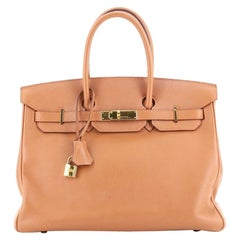 Hermes Birkin Handbag Gold Swift with Gold Hardware 35