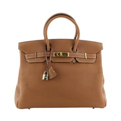 Hermes Birkin Handbag Gold Togo With Gold Hardware 35