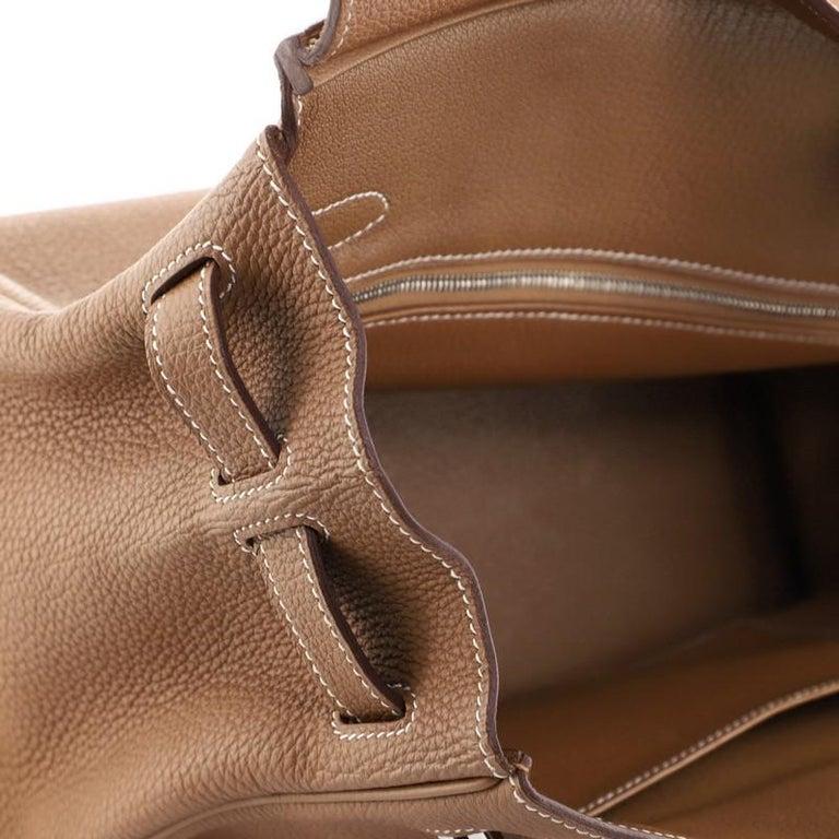 Hermes Birkin Handbag Gold Togo with Palladium Hardware 30 For Sale 6